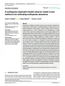 A new method to for estimating multispecies ... - Wiley Online Library