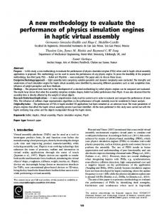 A new methodology to evaluate the performance of ... - IngentaConnect