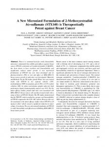 A New Micronized Formulation of 2-Methoxyestradiol- bis-sulfamate ...