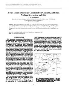 A New Middle Ordovician Conodont from Central Kazakhstan, Nothern ...