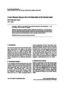 A new Miocene Bryozoa from the Sarmatian of the ...