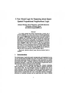 A New Modal Logic for Reasoning about Space ... - Semantic Scholar