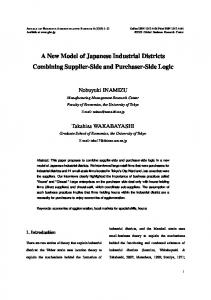 A New Model of Japanese Industrial Districts Combining ... - GBRC