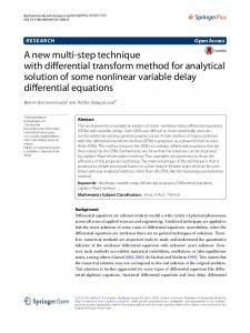 A new multi-step technique with differential ... - Semantic Scholar