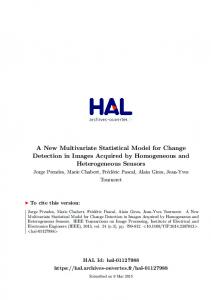 A New Multivariate Statistical Model for Change Detection in Images