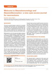 a new open access journal for neuroscience - Neuroimmunology and ...
