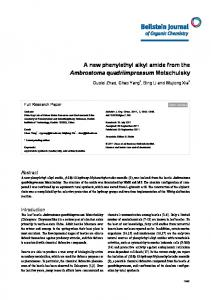 A new phenylethyl alkyl amide from the