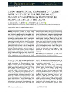 A new phylogenetic hypothesis of turtles with ... - Wiley Online Library