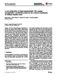 A new preparation of doped photocatalytic TiO2