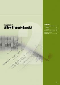 A New Property Law Act