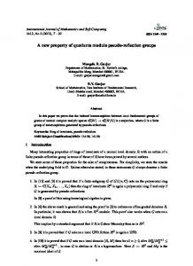 A new property of quotients modulo pseudo-reflection groups