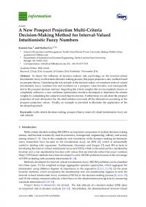 A New Prospect Projection Multi-Criteria Decision-Making Method for