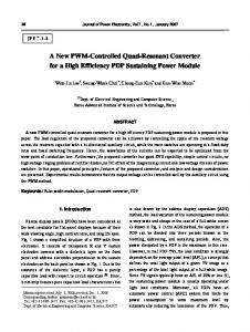 A New PWM-Controlled Quasi-Resonant Converter ...