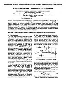 A New Quadratic Boost Converter with PFC