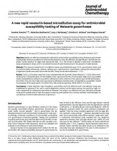 A new rapid resazurin-based microdilution assay for ... - CyberLeninka