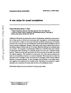 A new recipe for causal completions