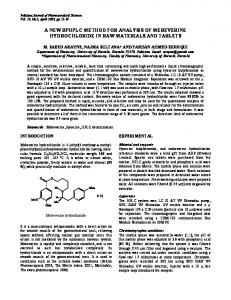 a new rphplc method for analysis of mebeverine hydrochloride in raw ...