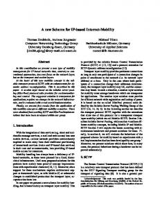 A new Scheme for IP-based Internet-Mobility - Semantic Scholar