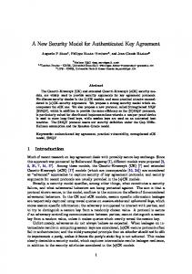 A New Security Model for Authenticated Key Agreement
