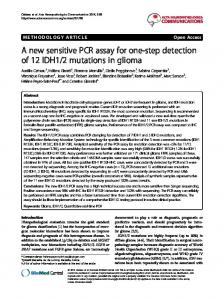 A new sensitive PCR assay for one-step detection of 12 IDH1/2 ...
