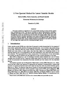 A New Spectral Method for Latent Variable Models