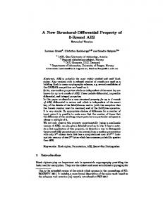 A New Structural-Differential Property of 5-Round AES
