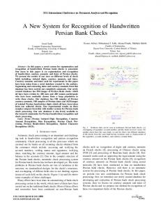 A New System for Recognition of Handwritten ... - Semantic Scholar
