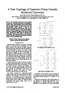 A New Topology of Capacitor-Clamp Cascade Multilevel ... - IEEE Xplore