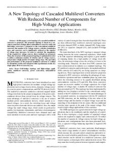 A New Topology of Cascaded Multilevel Converters ... - IEEE Xplore