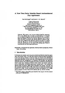 A New Two-Party Identity-Based Authenticated Key Agreement
