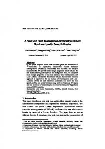 A New Unit Root Test against Asymmetric ESTAR Nonlinearity with ...
