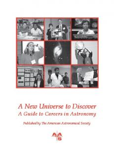 A New Universe to Discover