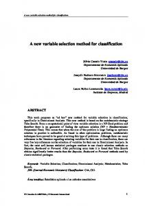 A new variable selection method for classification