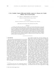 A New Volatility Tandem Differential Mobility Analyzer ... - AMS Journals