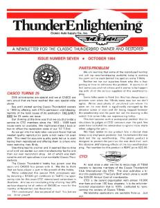 A NEWSLETTER FOR THE CLASSIC THUNDERBIRD OWNER ...