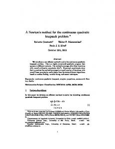 A Newton's method for the continuous quadratic