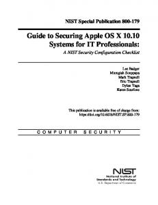A NIST Security Configuration Checklist - NIST Page