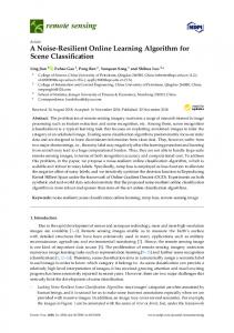 A Noise-Resilient Online Learning Algorithm for Scene Classification