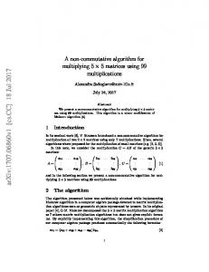 A non-commutative algorithm for multiplying 5$\times $5 matrices ...