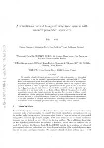 A nonintrusive method to approximate linear systems with nonlinear ...