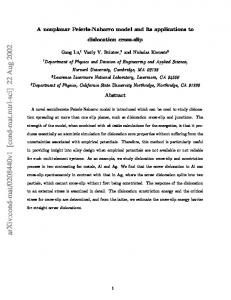 A nonplanar Peierls-Nabarro model and its applications to dislocation ...