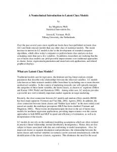 A Nontechnical Introduction to Latent Class Models What are Latent ...