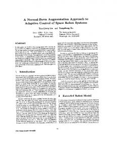 A normal form augmentation approach to adaptive control of space