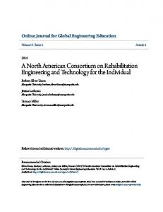 A North American Consortium on Rehabilitation Engineering and ...