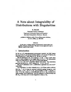 A Note about Integrability of Distributions with