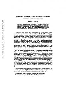 A NOTE ON A CHARACTERIZATION THEOREM FOR A CERTAIN ...