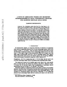 A Note on Associated Primes and Bockstein Homomorphisms of Local ...