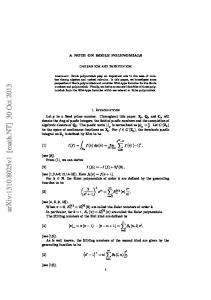 A note on Boole polynomials