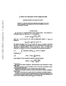 A Note on Coulhon type inequalities