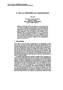 A Note on Definability and Approximations - Semantic Scholar